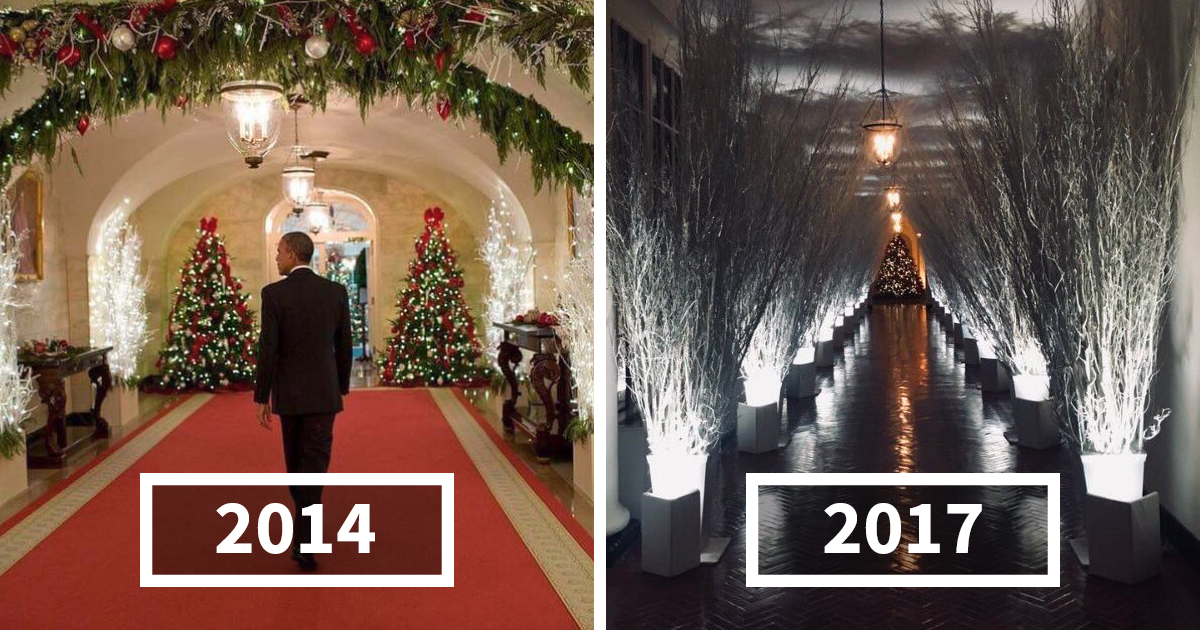 30 hilarious reactions to melania trumps creepy white house christmas decorations bored panda - Trump Christmas Decorations
