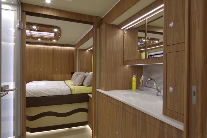 This $1.7 Million Motorhome With Its Own Garage May Look Like An Ordinary Bus From Outside, But Only Until You Step Inside
