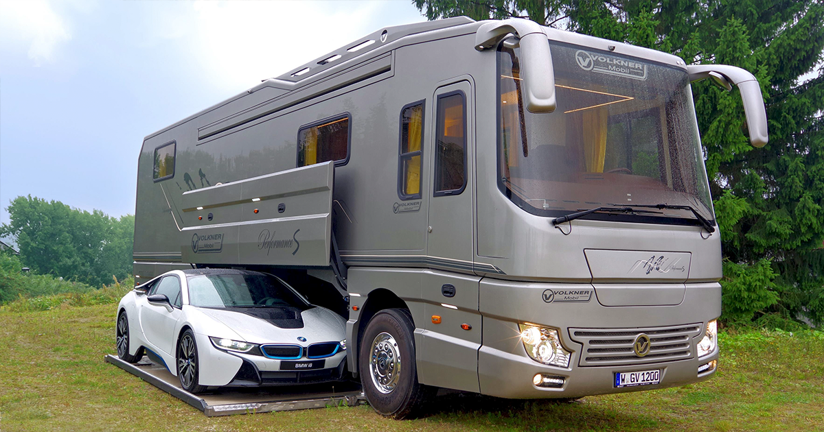 This 17 Million Motorhome With Its Own Garage May Look Like An Ordinary Bus From Outside But Only Until You Step Inside
