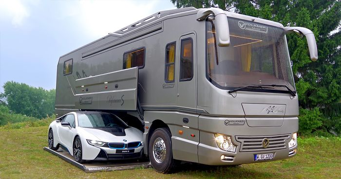 Garage Voor Camper : This million motorhome with its own garage may look like an