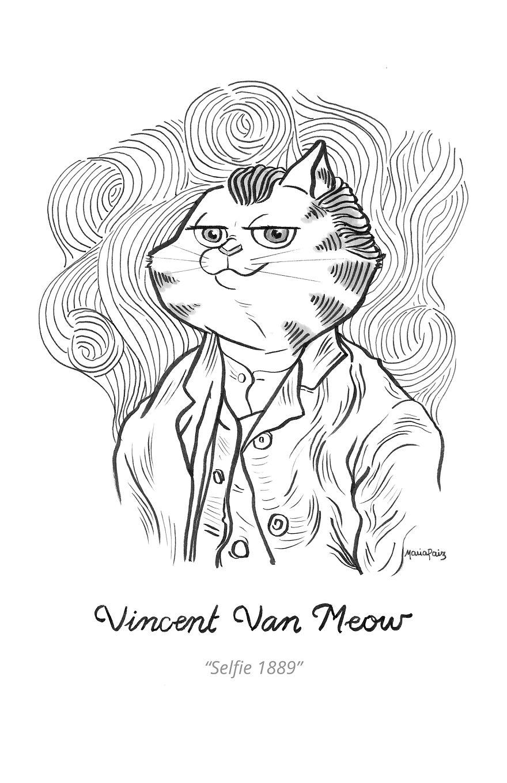 Vincent Van Meow's Selfie 1889