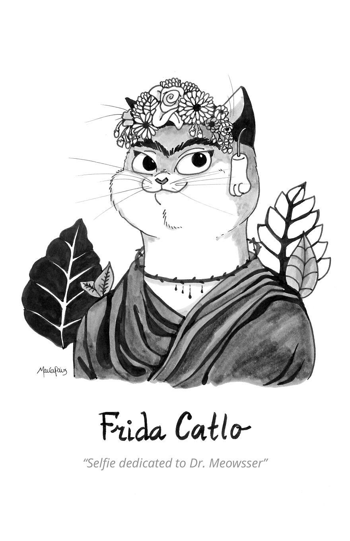 Frida Catlo's Selfie Dedicated To Dr. Meowsser
