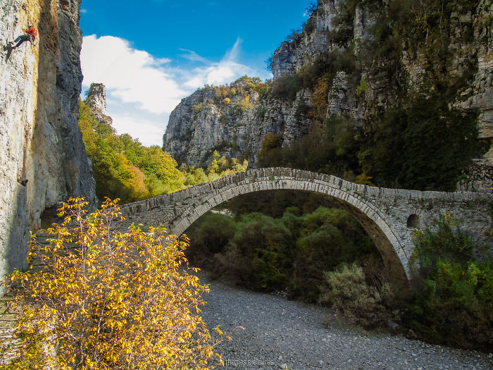Noutsos Bridge, Ioannina. Built 1750