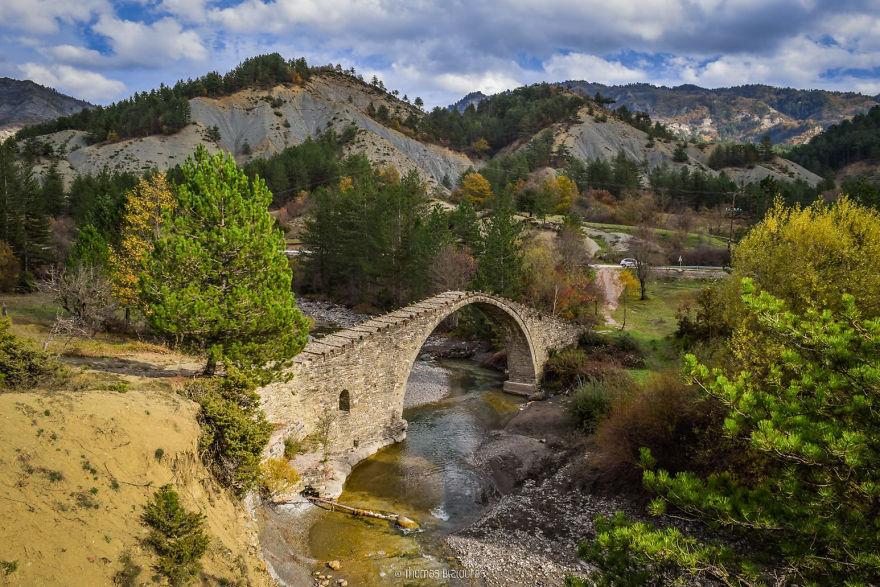 Koutsoubli Bridge, Kastoria. Built Around 1800