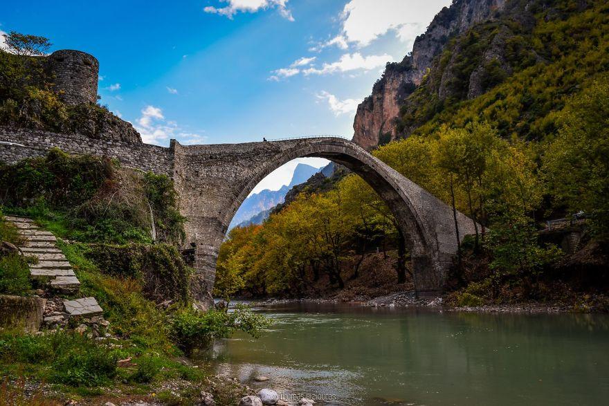 Konitsa Bridge, Ioannina. Built 1871