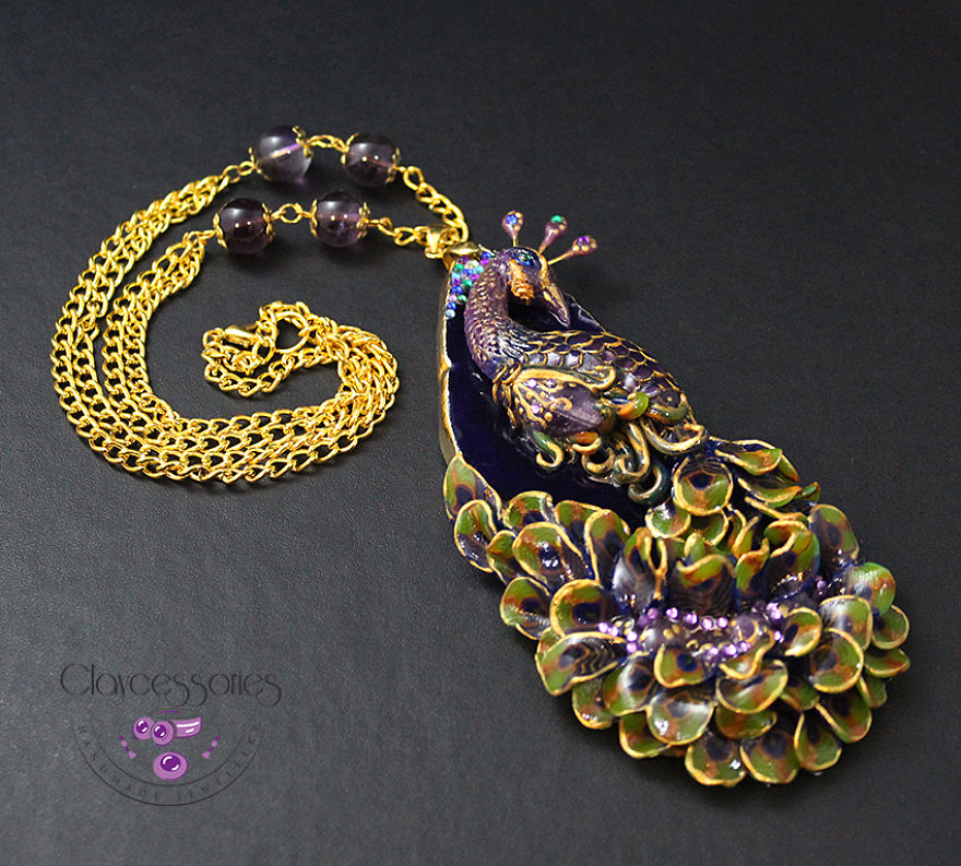 I Use Polymer Clay And Natural Stones To Create Art Nouveau Vintage Jewellery!