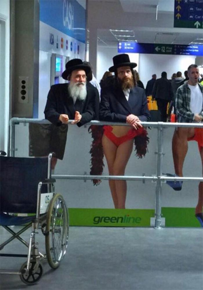En el aeropuerto de Tel Aviv