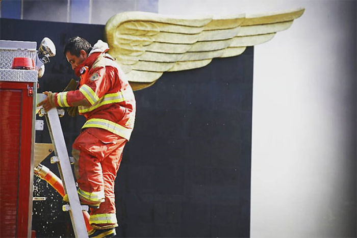 Firefighter In Mexico Earthquake