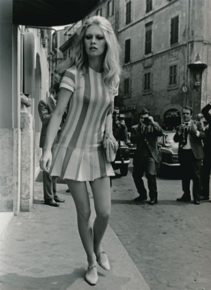 Brigitte Bardot Leaves The Hotel Forum. Rome, 1965