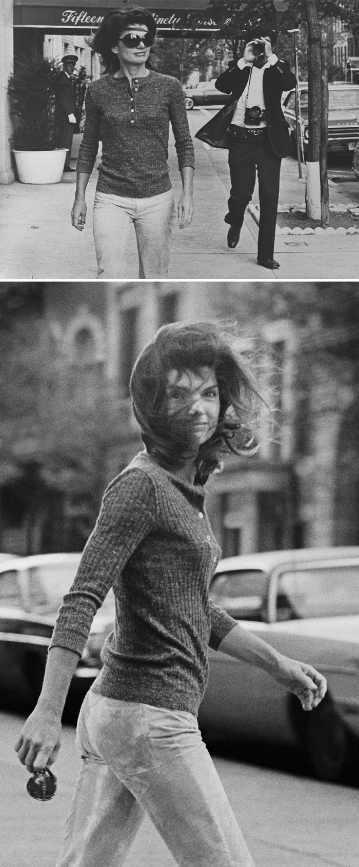 Jackie Kennedy Captured By A Celebrity Photographer While Walking Quietly On Madison Avenue In New York. October, 1971