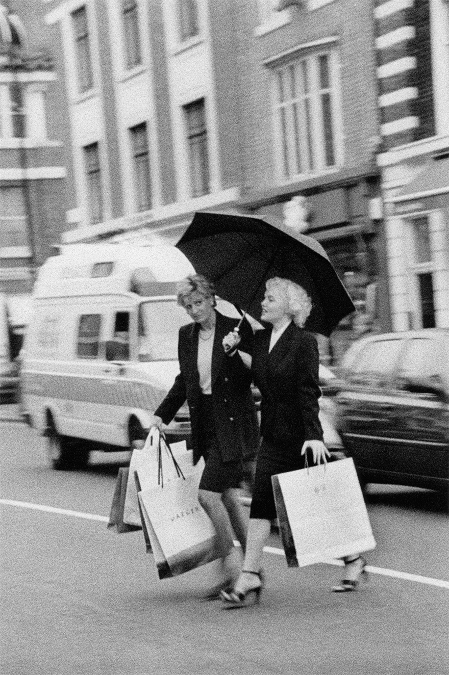 Suzie Kennedy, A Marilyn Monroe Impersonator, And A Princess Diana Lookalike Crossing The Street, 2000