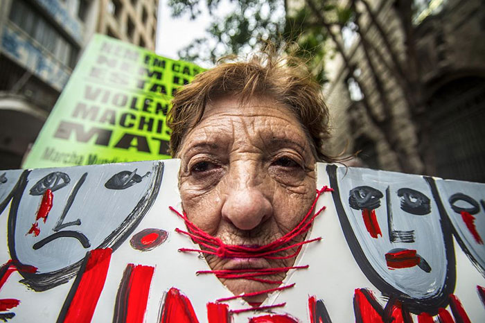 Women Protested Against The Dismantling Of Policies To Confront And Care For Women Victims Of Violence In The City Of São Paulo, 10 August 2017