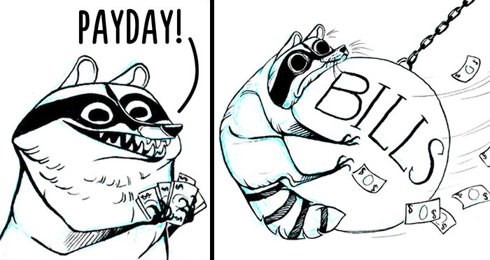 32 Darkly Hilarious Comics About A Raccoon That All Adults Will Relate To