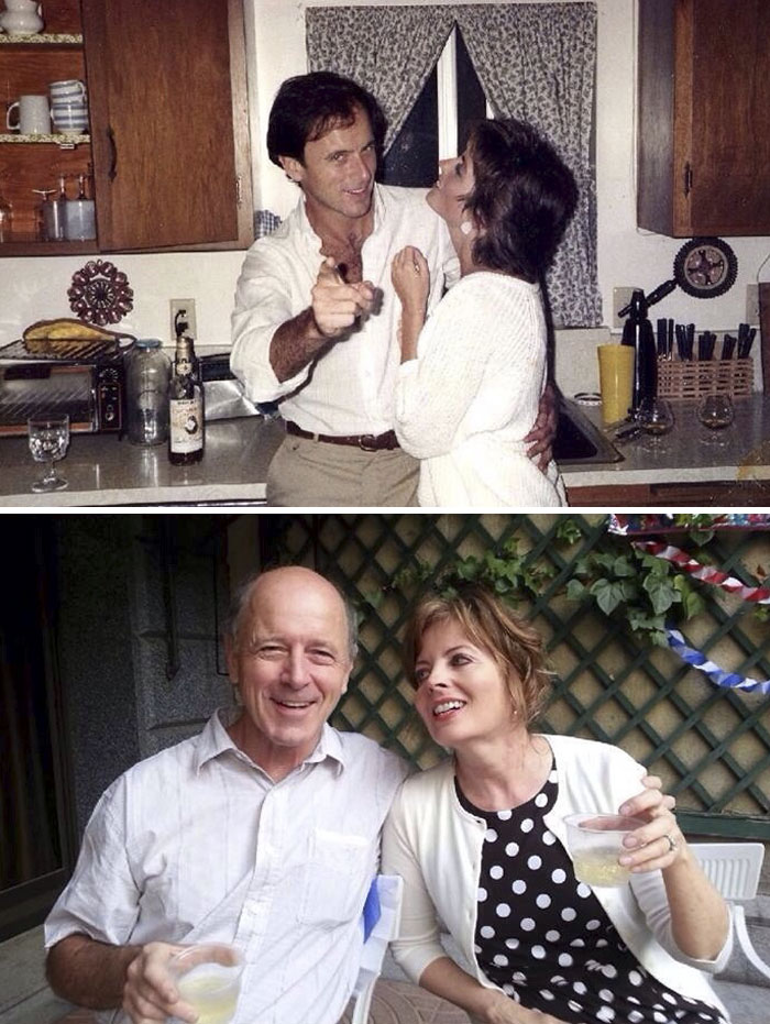 Here's My Parents Celebrating In 1983 And In 2013. I Love Them