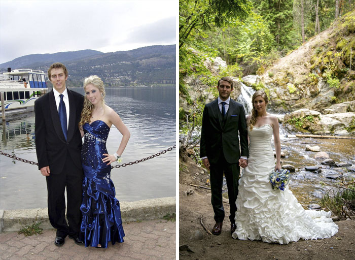 Prom 9 Years Ago, Wedding 8 Months Ago