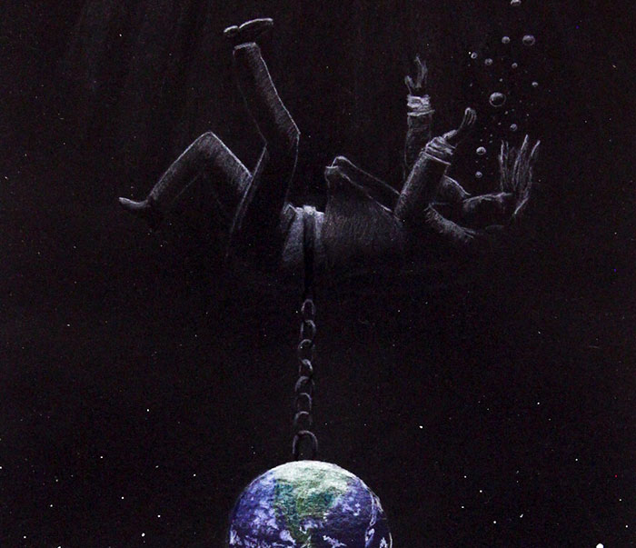 I Imagined Mental Disorders As Space Illustrations