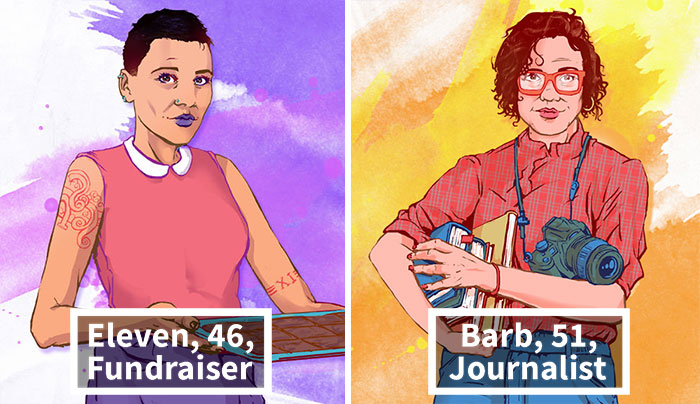 Illustrator Imagines What Stranger Things Characters Are Doing Now, 33 Years Later