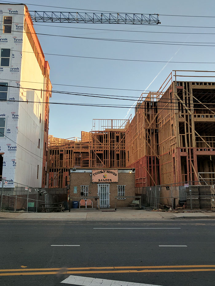 This Saloon Refused To Sell Their Property To An Apartment Company And Now The Apartment Has To Build Around Them