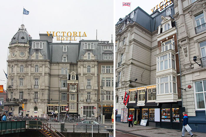 The Founders Of This Hotel Couldn't Buy These Houses Due To The High Asking Price. So The Hotel Was Built Around The Two Buildings Instead, And They Are Now Souvenir Shops
