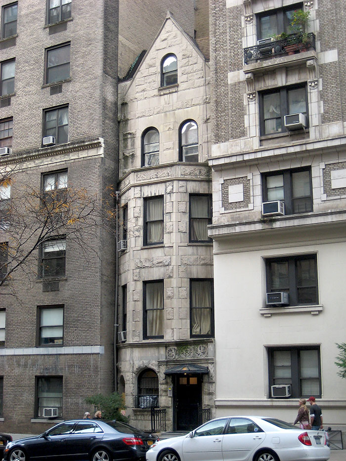 This Slender Gothic-Inspired Townhouse, Flanked By Massive Prewar Apartment Buildings Up And Down The Block