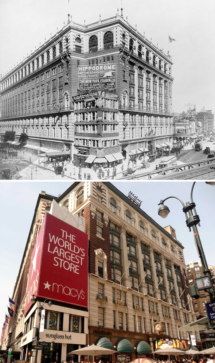The 'Million Dollar Corner' That Macy's Had To Build Around, And Then Hide Behind A Billboard