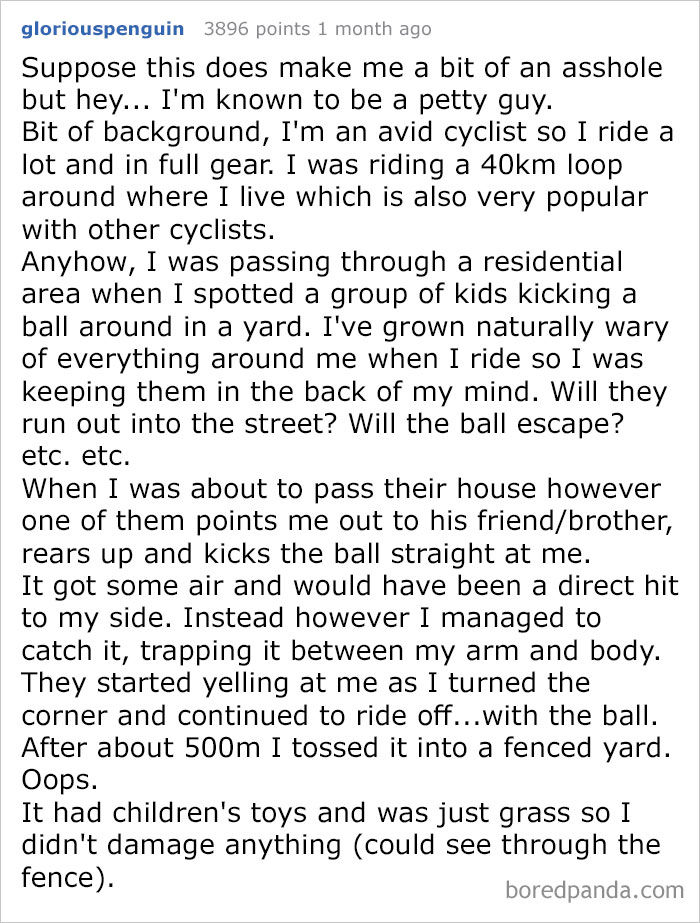 Kick A Ball At A Cyclist? Have Fun Finding It Back