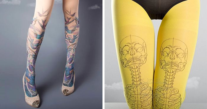 37 Tattoo Socks Perfect For People Who Love Tattoos But Dont Want