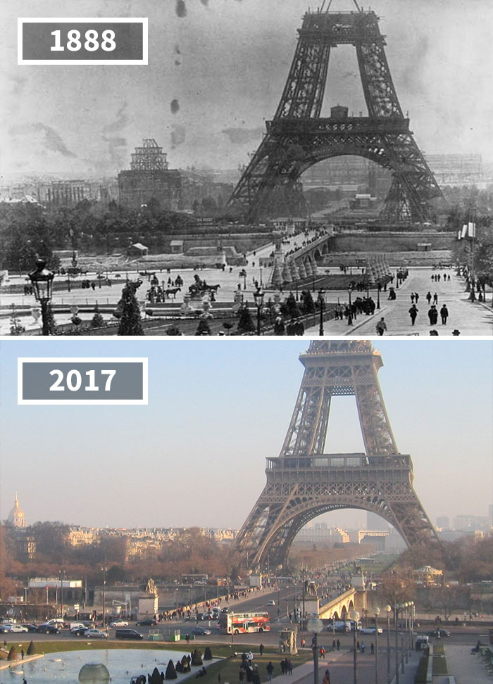 The Eiffel Tower, Paris, France, 1888 - 2017