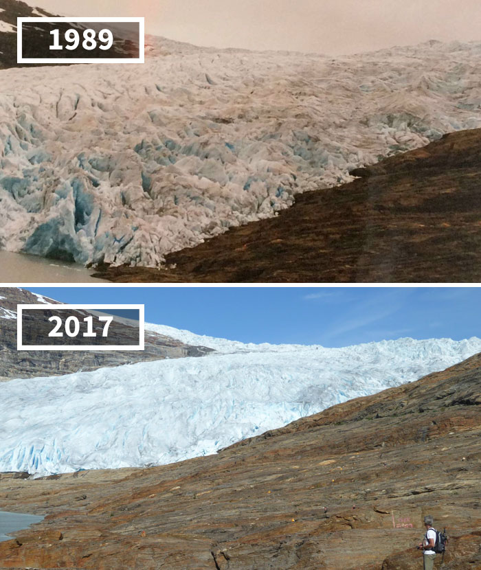 Svartisen Glacier, Norway, 1989 - 2017