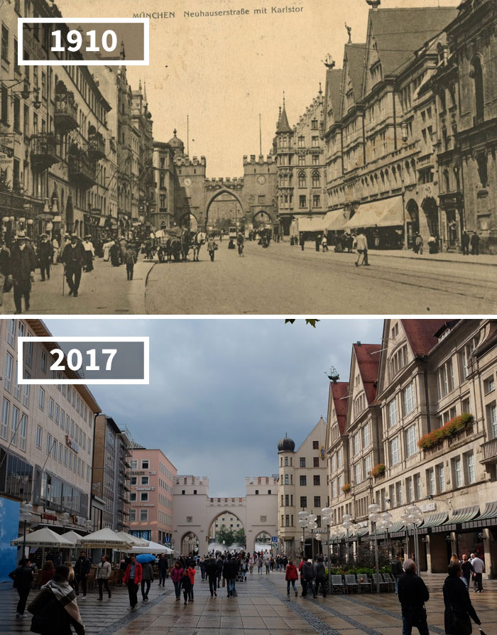Karlstor, Munich, Germany , 1910 - 2017