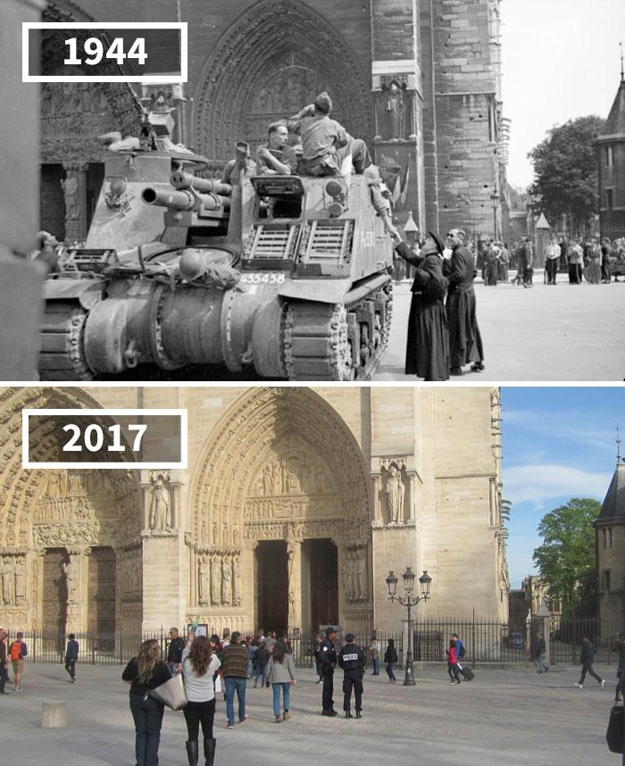 Notre-Dame, Paris, France, 1944 - 2017