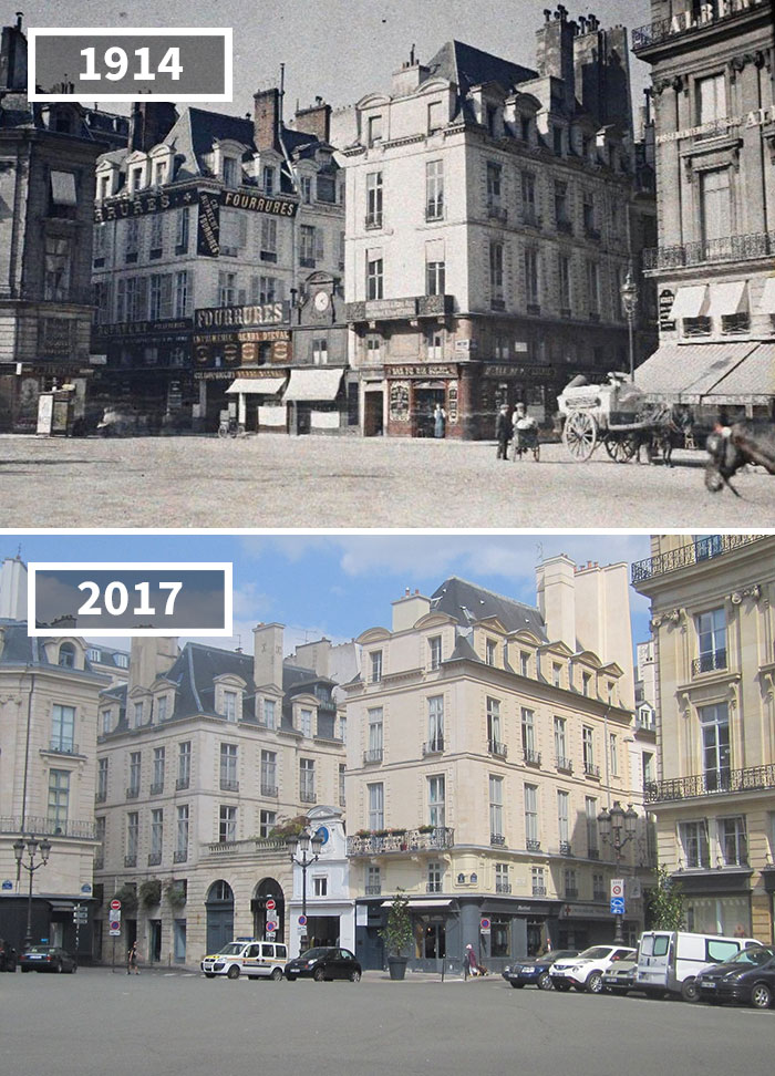 The Place Des Victoires, Paris, France, 1914 - 2017