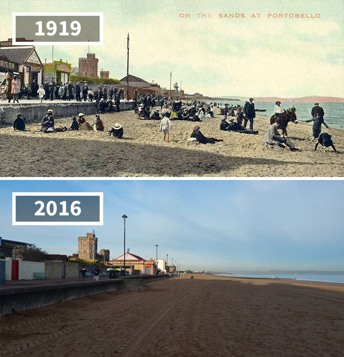 Portobello Beach, Edinburgh, Scotland, 1919 - 2016