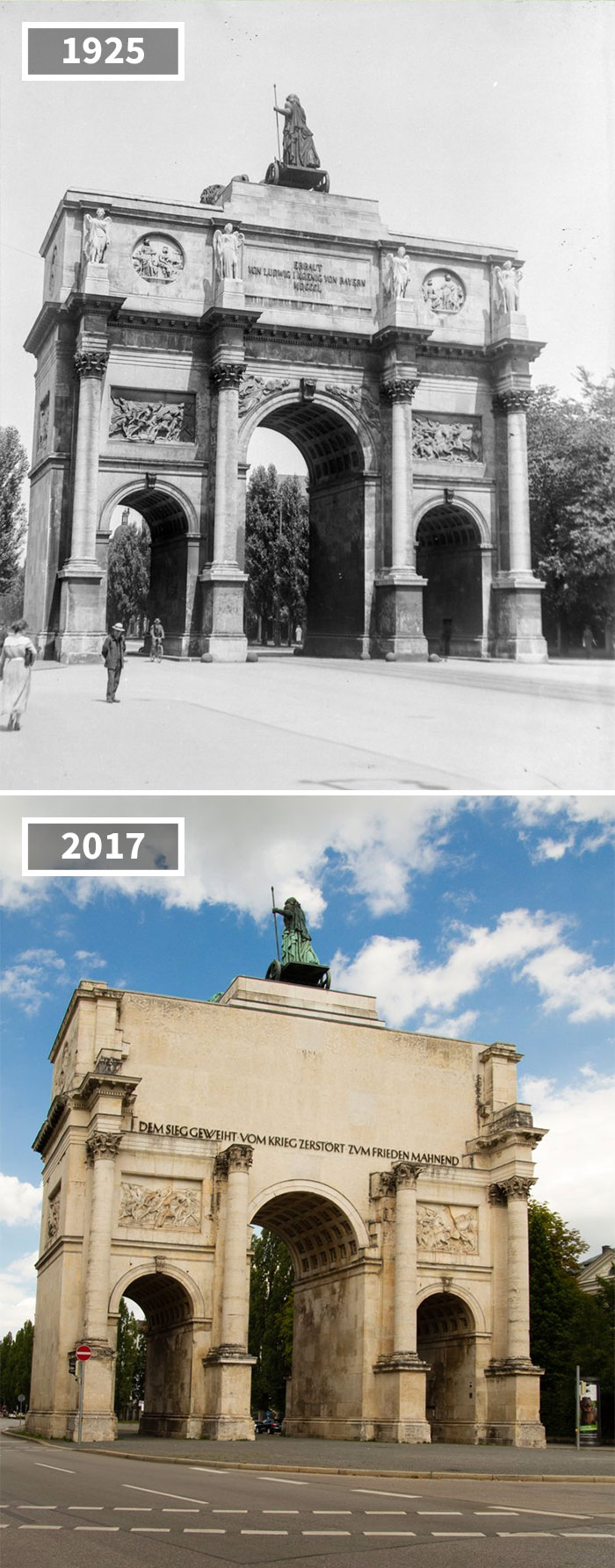 Victory Gate, Munich, Germany, 1925 - 2017