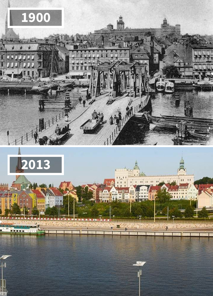 Most Kłodny, Poland, 1900 - 2013