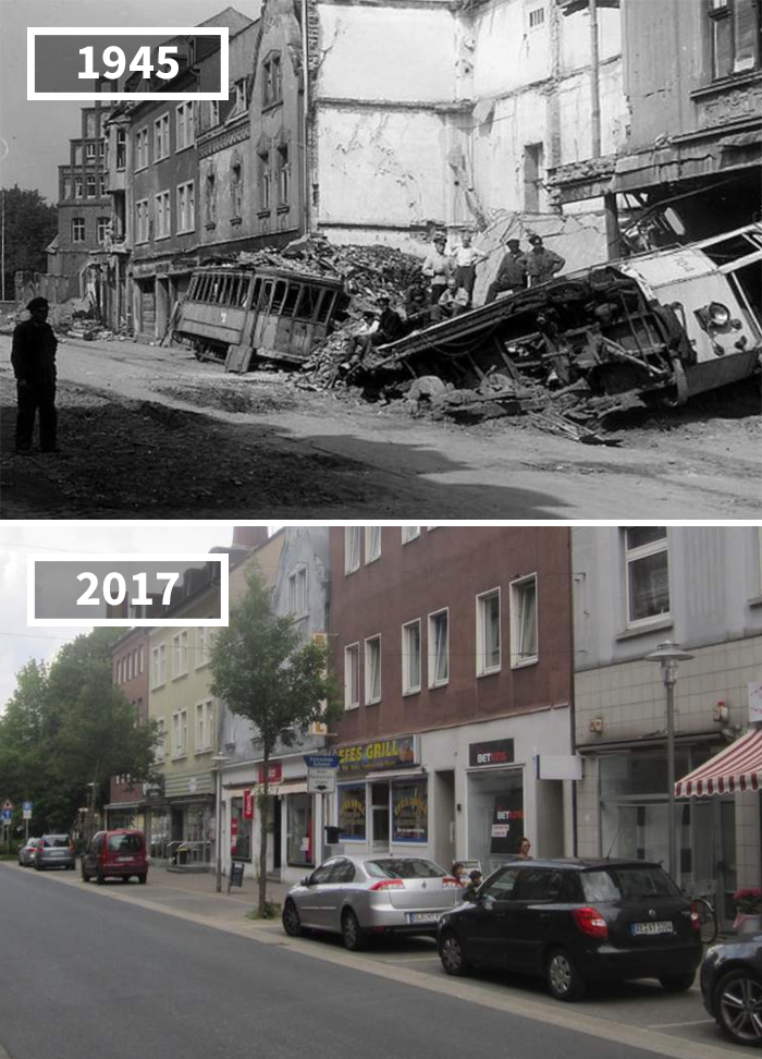 Rentforter Straße, Germany, 1945 - 2017