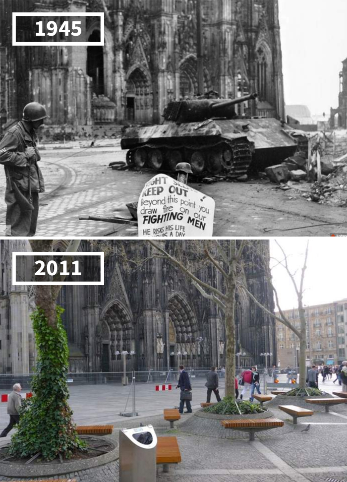 Köln Domplatte, Germany, 1945 - 2011