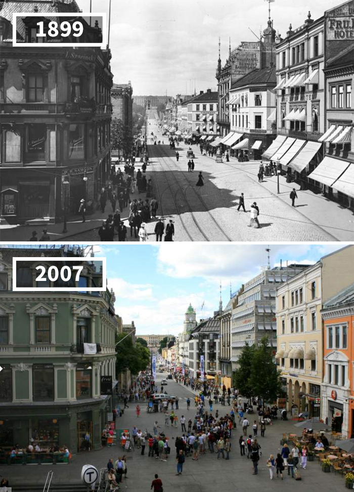 Karl Johan Street, Norway, 1899 - 2007