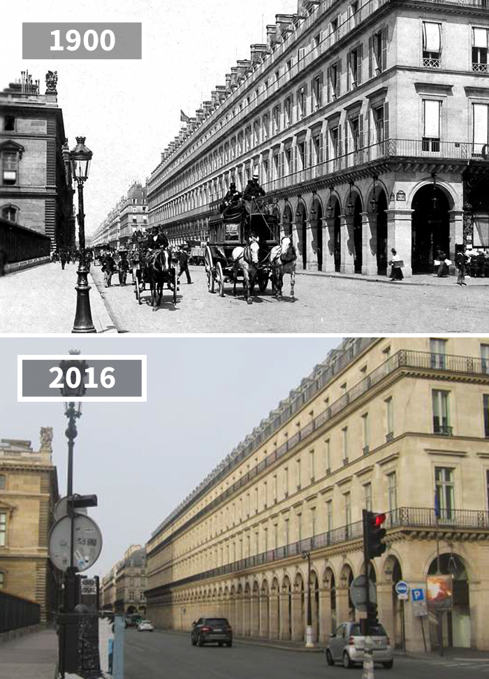 Rue De Rivoli, Paris, France, 1900 - 2016
