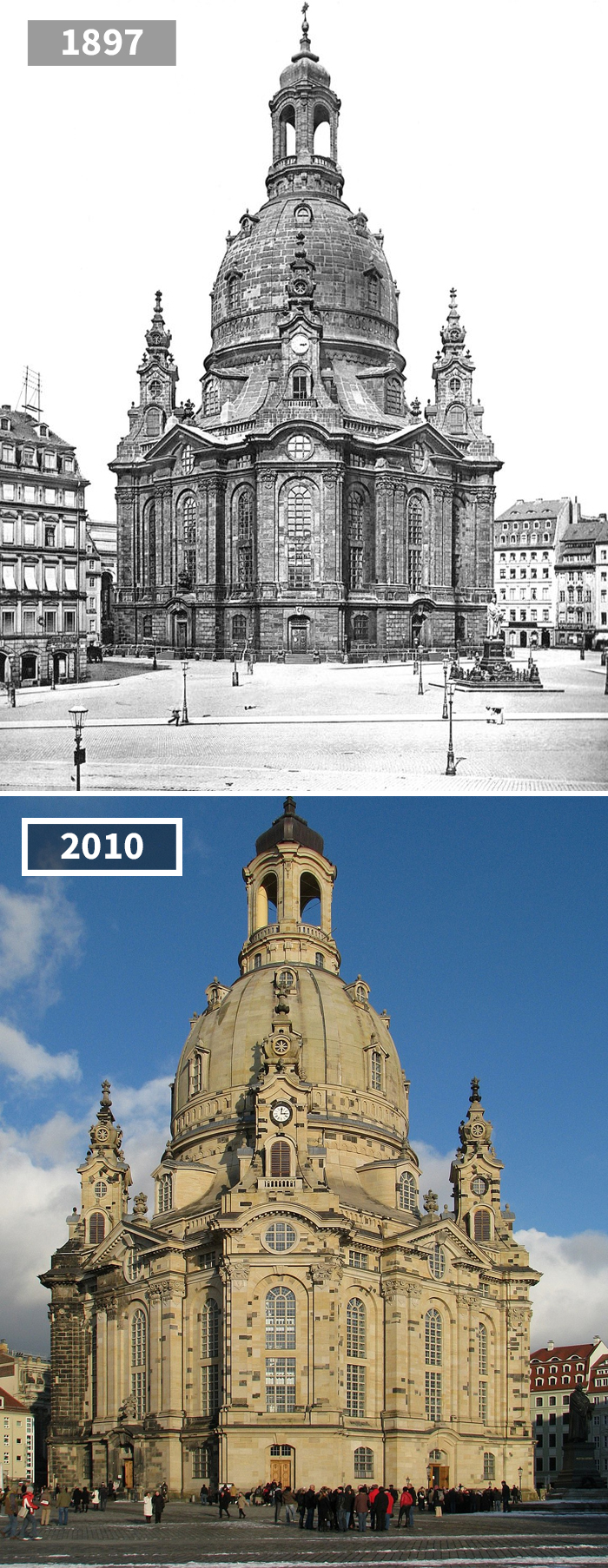 Frauenkirche Dresden, Dresden, Germany, 1897 - 2010