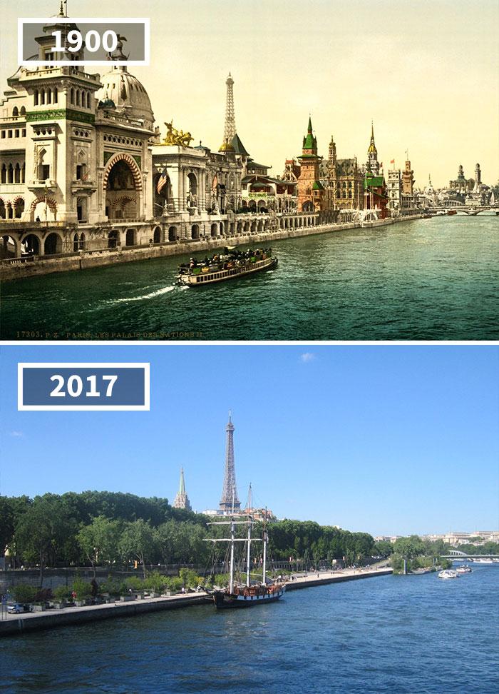 Quai Des Nations, Paris, France, 1900 - 2017