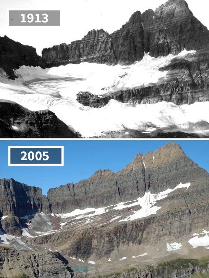Shepard Glacier, USA, 1913 - 2005