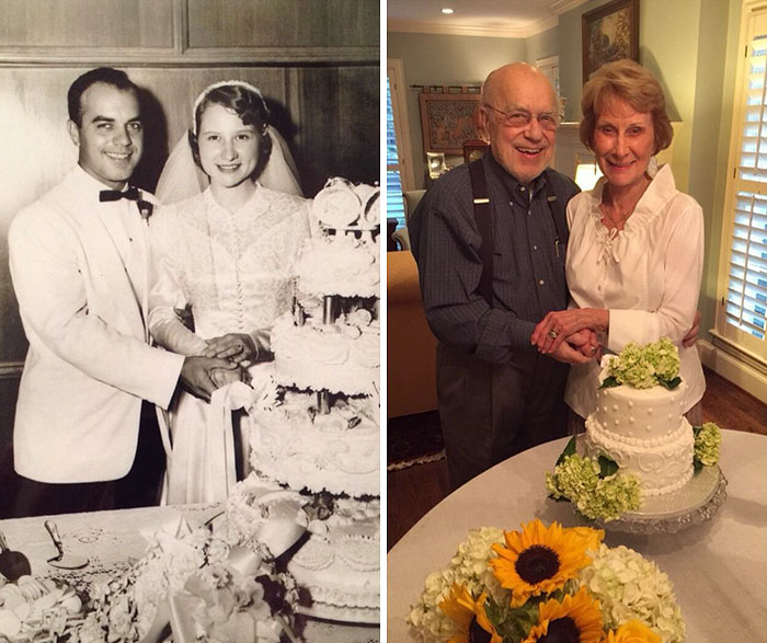 We Re-Created My Grandparents' Wedding Photo On Their 60th Anniversary