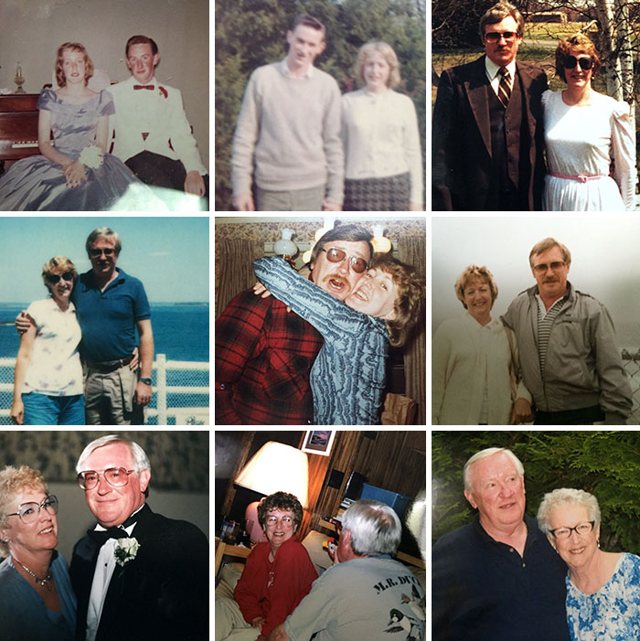 My Grandfather Died Just 5 Short Months After My Grandmother. They Had Been Together For 50 Years. His Friend Set Them Up On A Blind Date Back In High School And The Rest Was History. Here's Pictures Of Them Throughout Their Many Years Of Unconditional Love Together