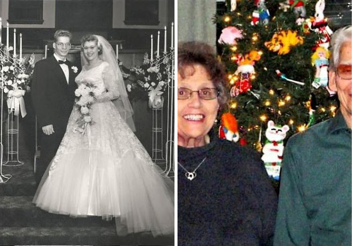 My Great Grandparents On Wedding Day And Them Now Will Be Married 63 Years In January. Both Are Still Living Happy Together