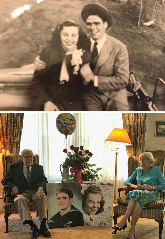My Grandparent's 70th Anniversary Wedding Day Photo, And Today