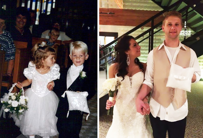 Flower Girl And Ring Bearer (In 1995) Get Married 20 Years Later