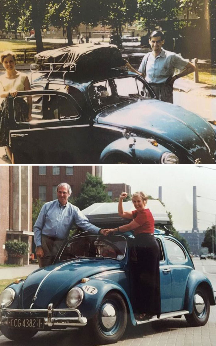 My Grandparents Travelled The World With Volkswagen Beetle In 1961. They Did It Again 35 Years Later, With The Same Beetle And Wrote A Book About It. They Inspire Me