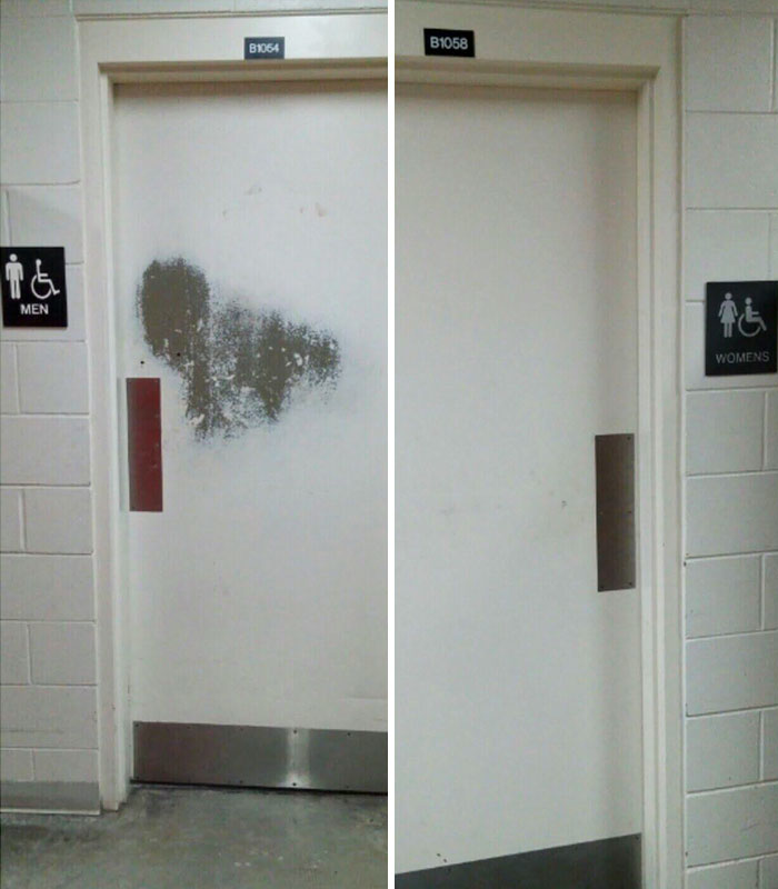 The Men's Bathroom Door Vs The Women's At My Engineering University