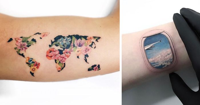 e31321d22 128 Travel Tattoo Ideas That Will Make You Want To Pack Your Bags ASAP |  Bored Panda